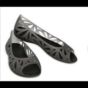 CROCS 'Adrina III'  Peep Toe Ballet Flats 7
